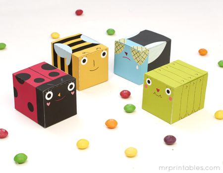 printable party favor boxes bugs