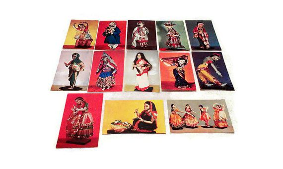 #Set #Lot 13 #vintage #Ethnic #dravings #russian #JustSweetHoney @Etsy #postcards #collection #Sushil #Rajni #Patel #Exhibition #art #Museum #Oriental Art. #Indian #dolls. #1968 #toy #Doll #USSR #madeinUSSR #SovietUnion #Collectible #Indian #folklore  #Paper  #Collectible dolls  #national #costumes  #dancers costumes  Indian #ethnos #souvenir #giftforhim #giftforher #sale #GIFT #giftidea #vintageshop