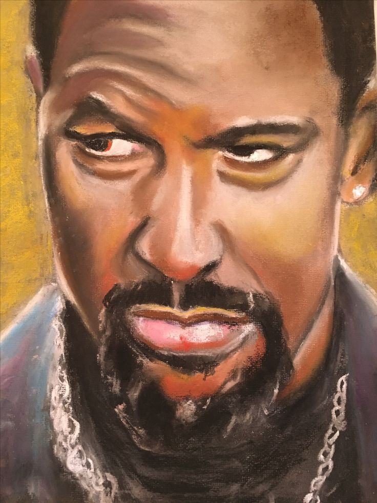 A pastel portrait I did of Denzel Washington in a scene from the movie 'Training Day'.