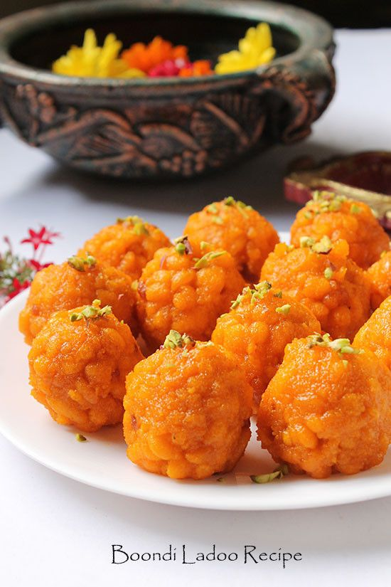 Traditional Diwali Sweet Indian Boondi Ladoo Recipe! They are sweet balls made from chickpea flour droplets and soaked in sugar syrup.