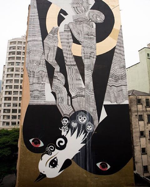 New mural by @never2501 and @speto in São Paulo, Brazil for @o.bra. // Organized by @instagrafite.