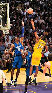 Bryant shoots a left-handed floater over Dwight Howard of the Orlando Magic on January 18, 2010. ..... Kobe Bryant - Wikipedia, the free encyclopedia