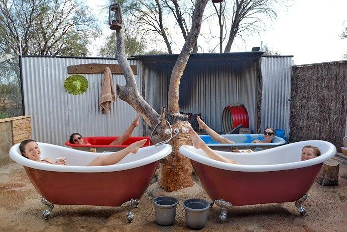 The road trip to Birdsville isn't complete without a visit to the Eulo Mudbaths #thisisqueensland