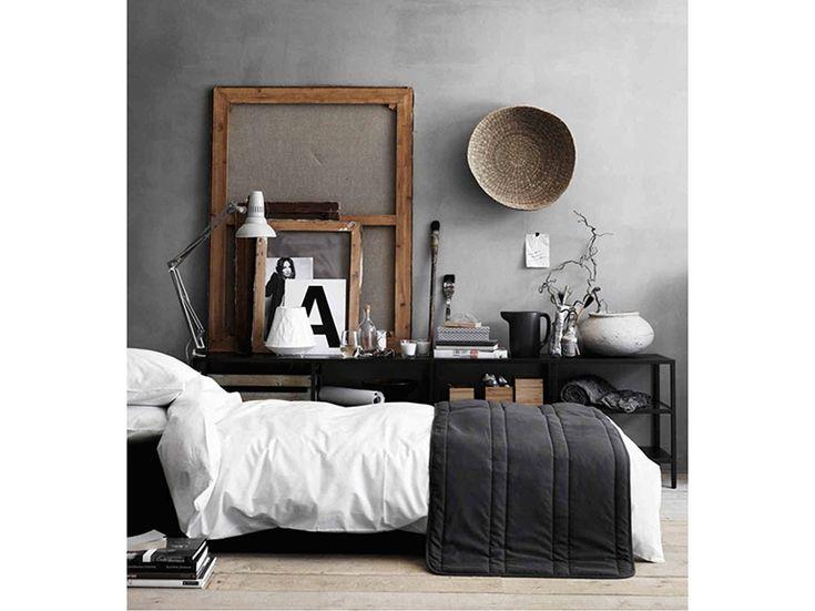 6. Как-мебель-камера к кровати в стиле кантри-современные горшки-ротанг стена