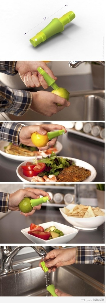 OMGosh, if this actually works, it may be one of the coolest inventions I've ever seen!: Ideas, Sprays, Stuff, Lime Juice, Food, Lemon Lime, Things, Products