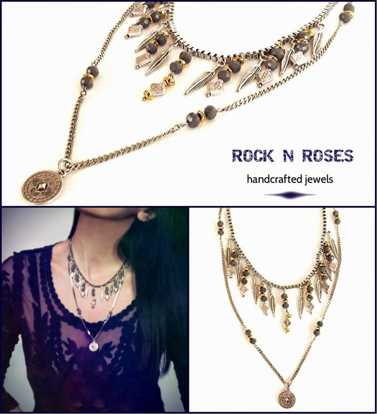 ☆☆ ROCK N' ROSES ☆☆: >>> La vida boheme silver grey feather necklace <<...