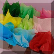 Great paper source: crepe, tissue, corrugated, etc.