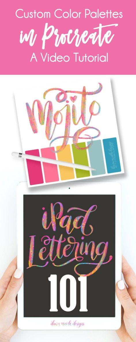iPad Lettering: Custom Procreate Color Palettes. Setting up custom color palettes in Procreate is super easy. I'm teaching you how in this video tutorial.
