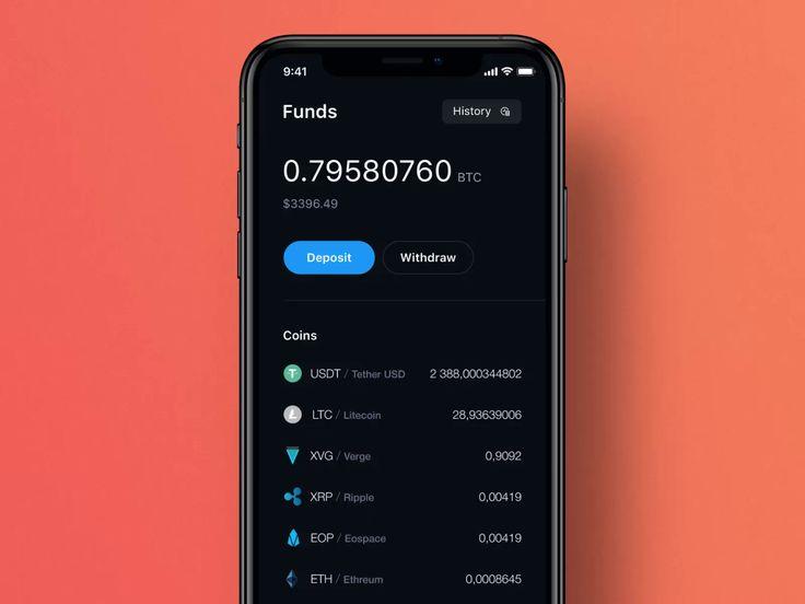 Crypto wallet by Renat Muratshin ♣ in 2020 Mobile design