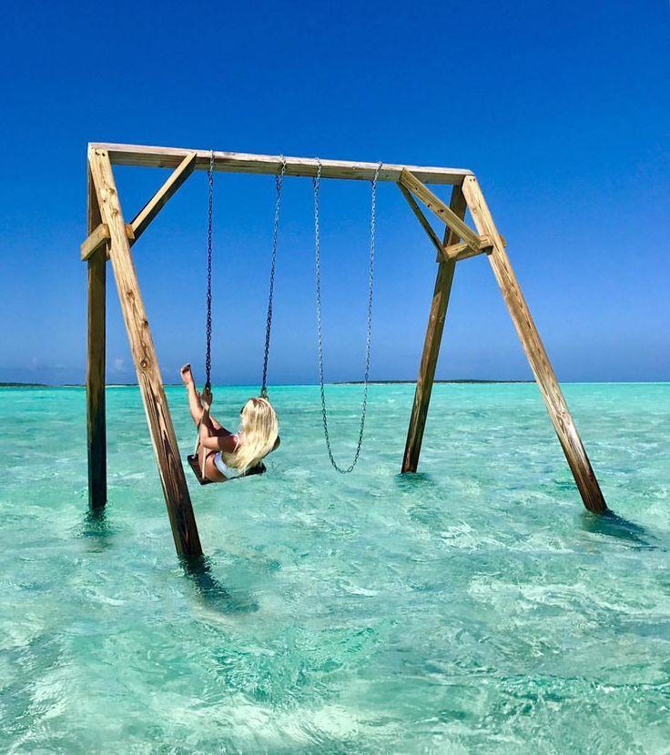 Tag who you'd swing with!!! Exuma - Bahamas Credits ✨@alinasemjonov✨ . #beachesnresorts for a feature