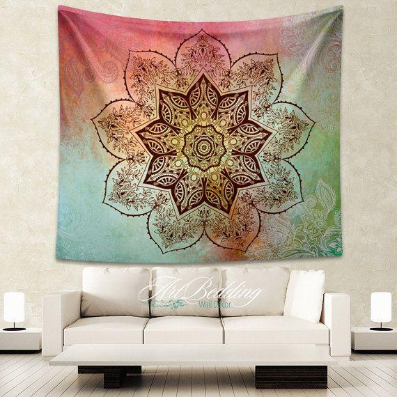 Bohemian Tapestry, Boho mandala tapestry,Hippie mandala tapestry wall hanging, bohemian decor, Flower lotus vintage mandala wall tapestries