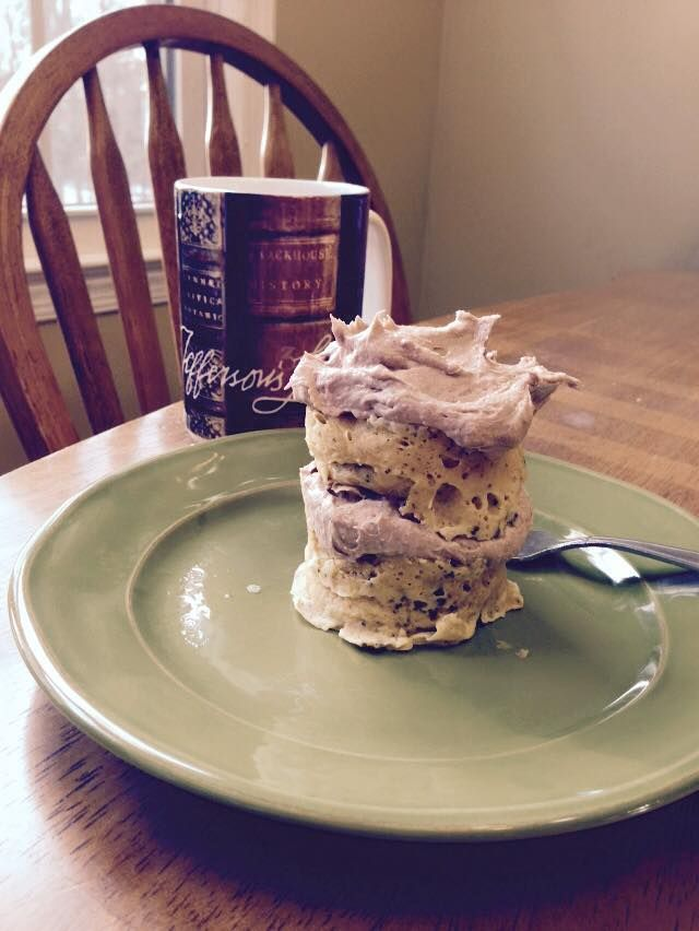Herbalife Mug Cake!  1 egg 3 tablespoons milk  Mix in a mug that's been greased  Add 2 scoops any flavor F1 shake mix  Mix well Microwave for 2 - 2.5 minutes   Icing: 1/2 cup greek yogurt  1 scoop vanilla PDM   SO YUMMY!   Oh! Here's the nutrition: 26 grams of protein 7 grams fat 247 calories And tons of vitamins and minerals!