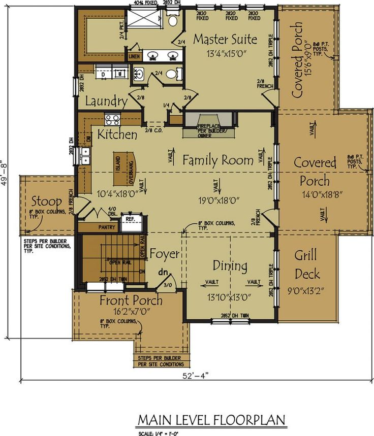 Best 1810 houseplans images on pinterest other Small lake house plans with screened porch