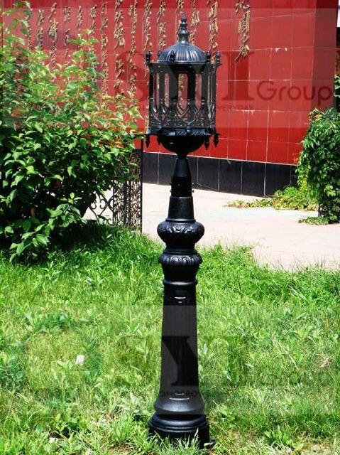 Grey Iron Street Lamp Post