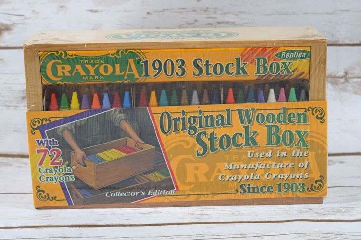 1997 #Crayola 1903 Stock Box Replica Wooden Box with 72 Crayons  NIP #BinneySmith