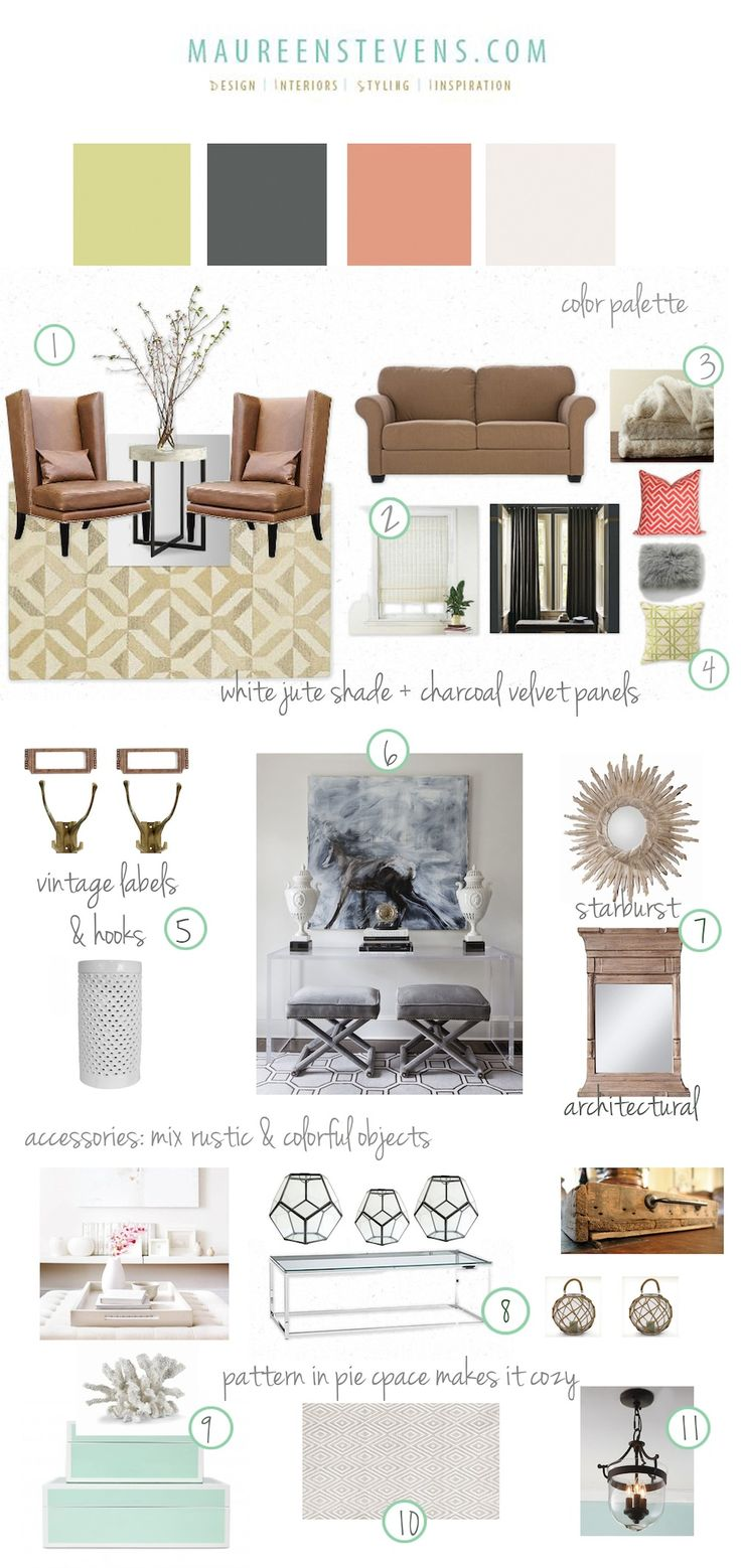 Warm And Cozy Dining Room Moodboard: Coastal Living Rooms, Cork Wall And Natural Texture