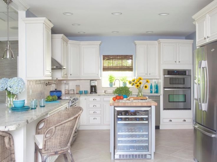 Browse photos and explore exciting design from a dated, inefficient kitchen transformed into a cook's dream space with coastal style on HGTVRemodels