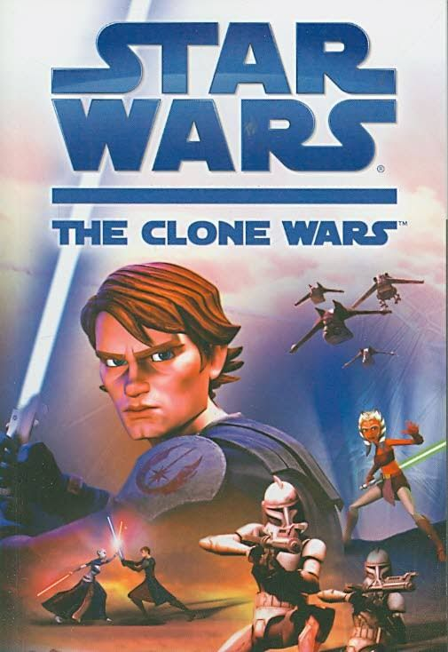 "Star Wars: The Clone Wars, adapted by Tracey West (2008). ""Based on The Clone Wars theatrical release, this novel traces the story of Anakin Skywalker, Obi-Wan Kenobi, and a young new Padawan as they battle against the evil Sith and the Separatist army."" (Website)"