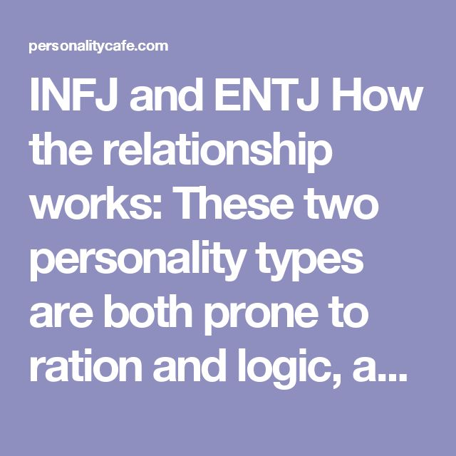 entj and infj dating