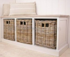 White Hall Storage Bench With Baskets