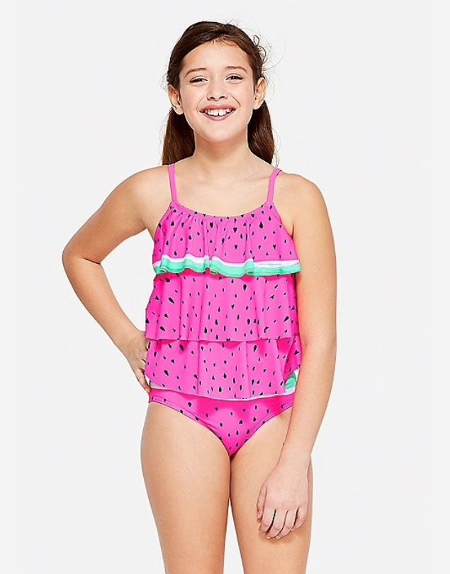 Watermelon Tiered Tankini Justice Swimsuits Girls Tankini Swimsuits Swimwear