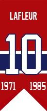 Guy Lafleur : Élu au Temple de la renommée du hockey en 1988, Lafleur a effectué un retour la saison suivante, s'alignant pour les Rangers de New York puis pour les Nordiques de Québec jusqu'en 1990-1991. Aujourd'hui homme d'affaires accompli et l'un des cinq ambassadeurs des Canadiens de Montréal, Guy Lafleur a vu les amateurs scander Guy! Guy! Guy! lorsque le chandail numéro 10 qu'il a porté pendant plus de 1000 matchs fut élevé au plafond du Forum le 16 février 1985.