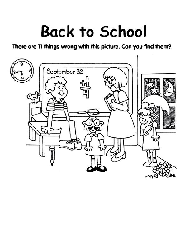 my first school coloring pages - photo#18