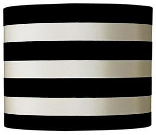 Black U0026 White Stripe Lamp Shade 10x10x8 (Spider) | LampsPlus.com