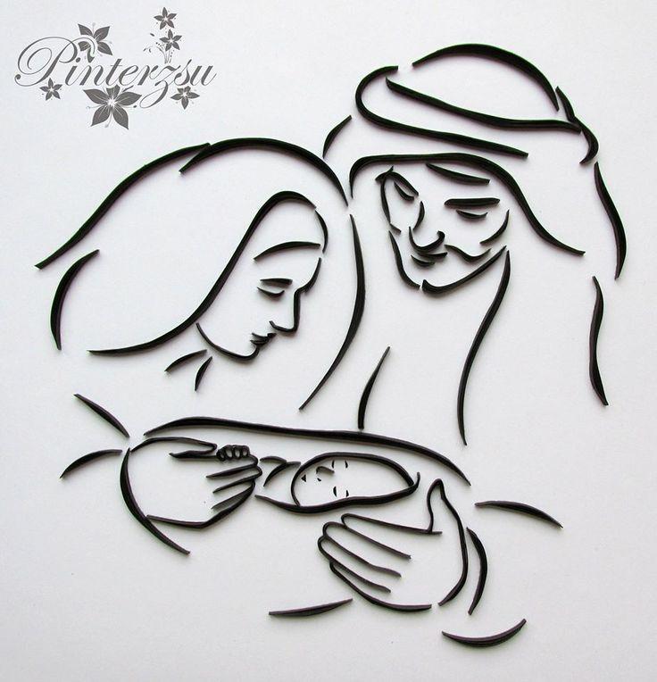 Quilling - The Holy Family  Pinterzsu alkotása - Kreatív hobbik csoport