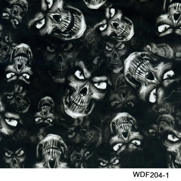 WDF204-1  50 square Width 1m skull hydro graphic film water transfer film
