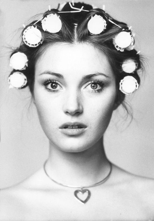 Jane Seymour, I've never seen a woman this beautiful in curlers, never.