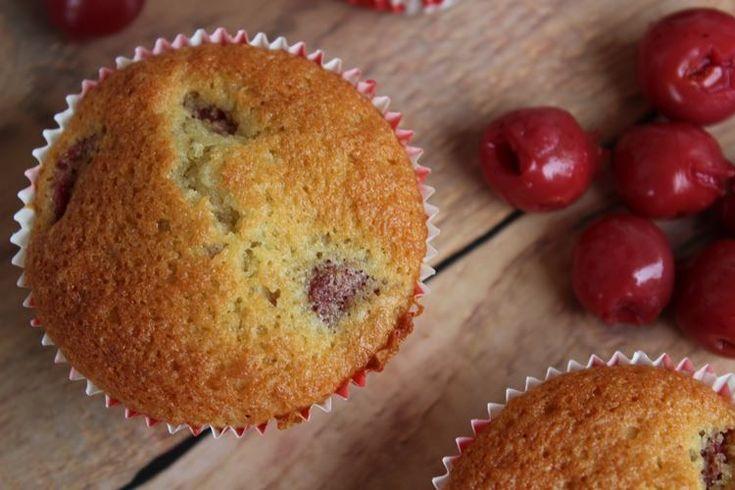 kirschmuffins, kirschen, cherry, muffins