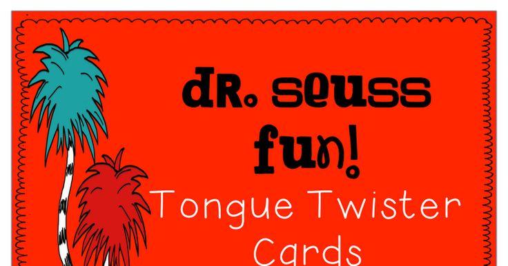 dr  seuss tongue twister cards pdf