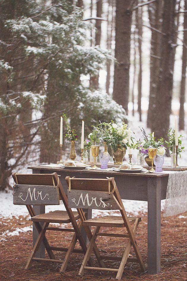 Magical Snow & Lavender Wedding Inspiration Shoot   Jenny Cruger