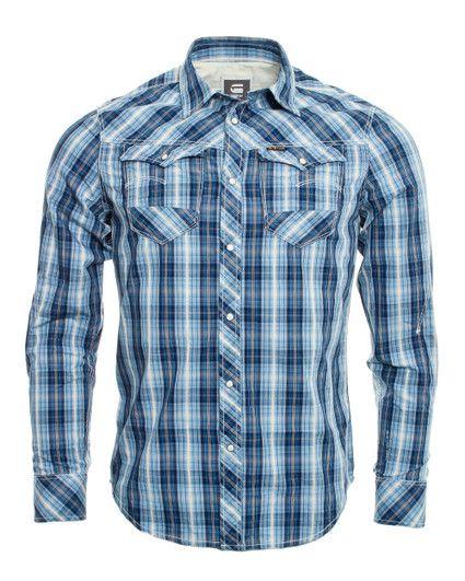G-Star RAW Blue Checked Shirt