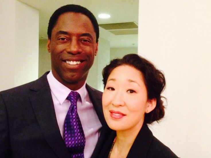 Isaiah Washington and Sandra Oh..she can't leave!!!!!!!