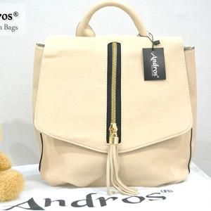 TAS IMPORT KODE: 7000  IDR. 220.000  BAHAN PU  SIZE L26XH29XW12CM  WEIGHT 800GR  COLOR BEIGE
