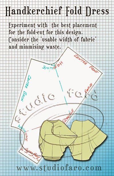 Pattern Puzzle - Handkerchief Fold Dress