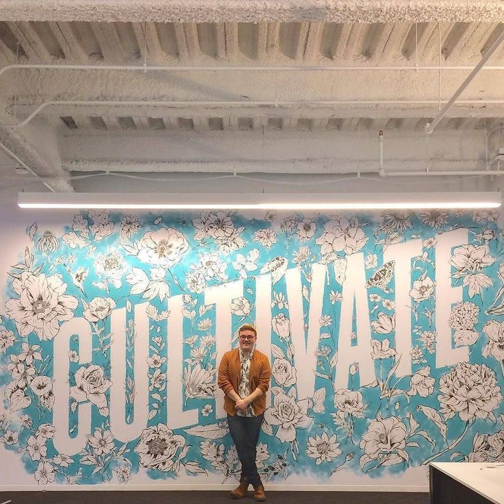 Incredible mural by @heykyle - #typegang - free fonts at typegang.com | typegang.com #typegang #typography