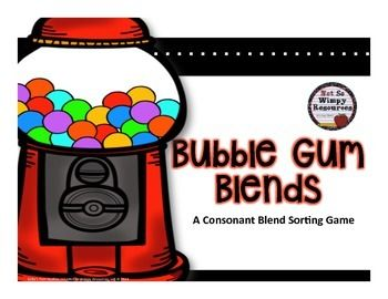 Freebie: Bubble Gum Blends is perfect for small group activities during reading workshop and/or Daily 5. This game reinforces the initial consonant blends.