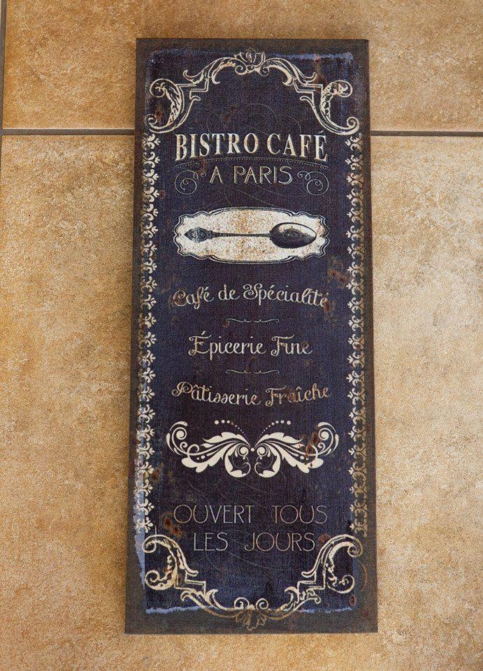 Bistro Cafe Flax Print