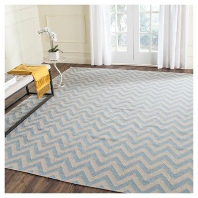 Suri Dhurry Rug - Dark Blue - (10' x 14') - Safavieh, Blue/Ivory, Durable