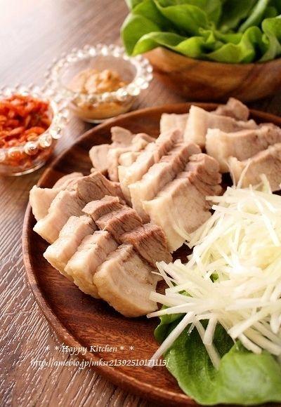 蒸し豚と味噌の野菜包みポッサム風(オススメです!) | たっきーママ オフィシャルブログ「たっきーママ@happy kitchen」Powered by Ameba