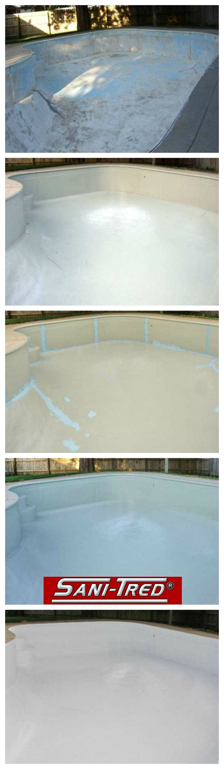 Swimming pool repair and solution with the Sani-Tred System!
