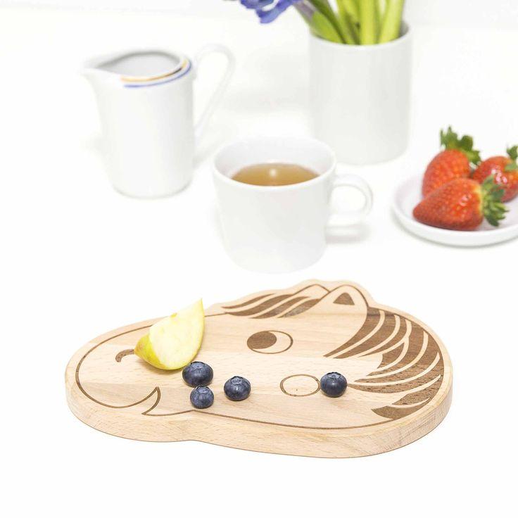 Frühstücksbrett Pferd / Holz Brett für Kinder by Julica