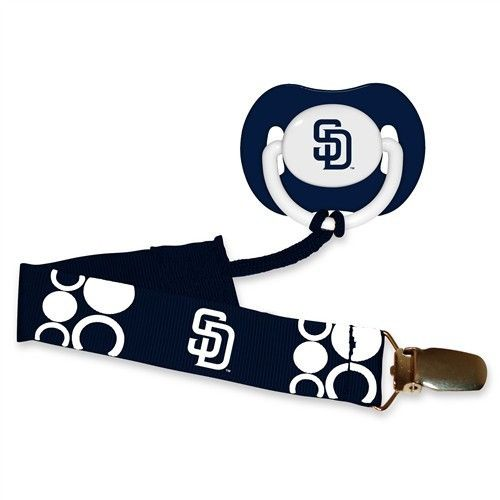 San Diego Padres MLB Pacifier Clip & Pacifier