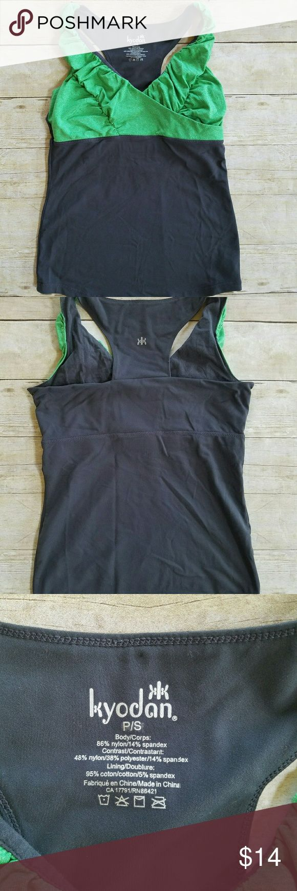 Kyodan green and gray athletic tank top Like new condition, no flaws Kyodan Tops Tank Tops