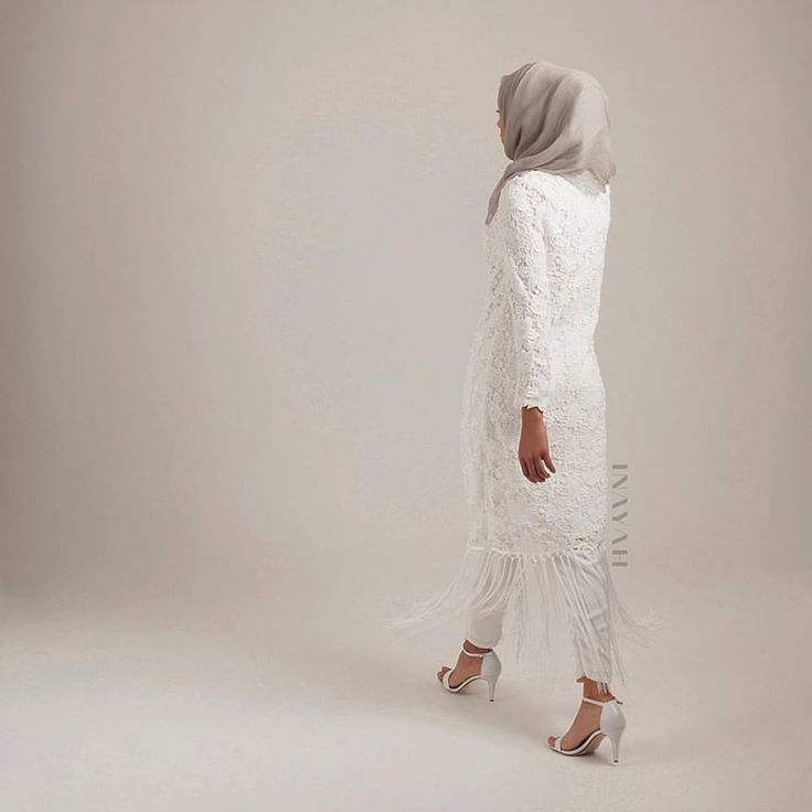 INAYAH | White Crochet #Dress with Fringe + White Tapered #Trousers