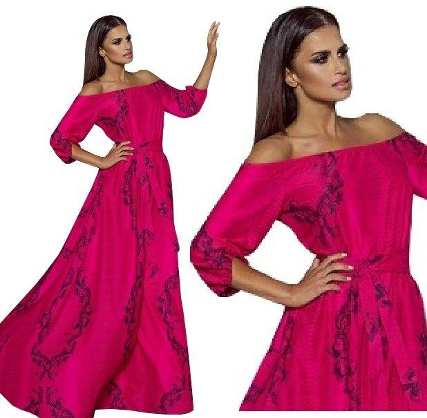 Sukienka Maxi Hiszpanka Zwiewna Suknia Wesele Emo 8296663158 Oficjalne Archiwum Allegro Dresses Fashion Shoulder Dress