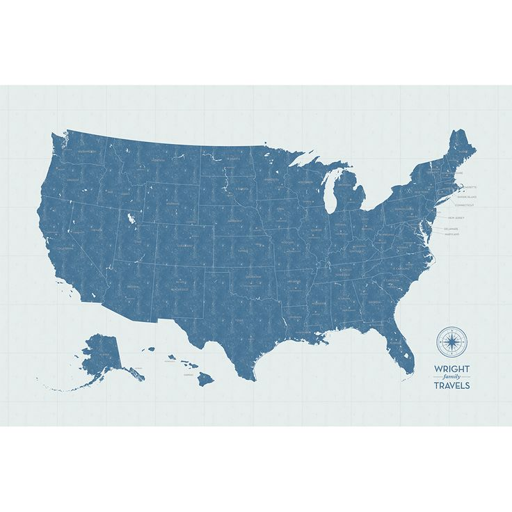 Interactive Map Usa Road Trip%0A Vintage w  Labels   x   u     u      more